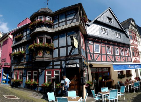 Hotel Blaue Ecke in Adenau mit Hund